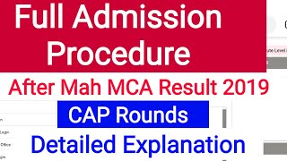 What is the procedure after Mah MCA Result | Mah MCA 2019 | MCA CAP Round 2019| Mah MCA Result 2019