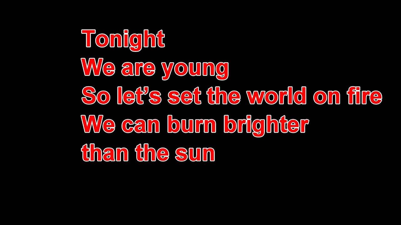 we are young lyrics - 1280×720