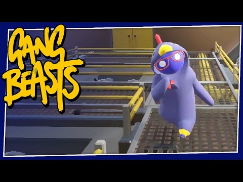 Gang Beasts - #150 - Chicken Slime!! (Online Gameplay)
