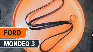 Τοποθέτησης Ιμάντας poly-V μόνοι σας οδηγίες βίντεο στο FORD MONDEO