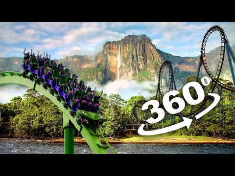 VR Video 360° Angel Falls Venezuela VR Roller Coaster 360 degree