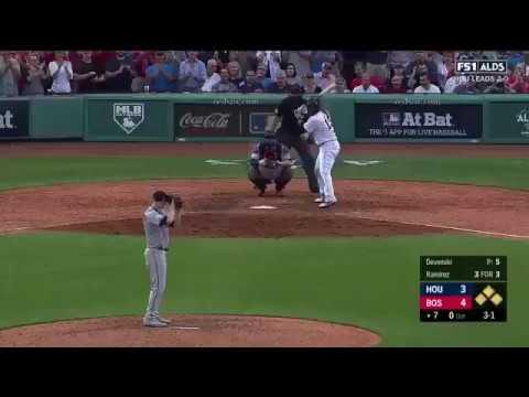 Hanley Ramirez Clutch 2-Run Double vs Astros   Red Sox vs Astros Game 3 NLDS