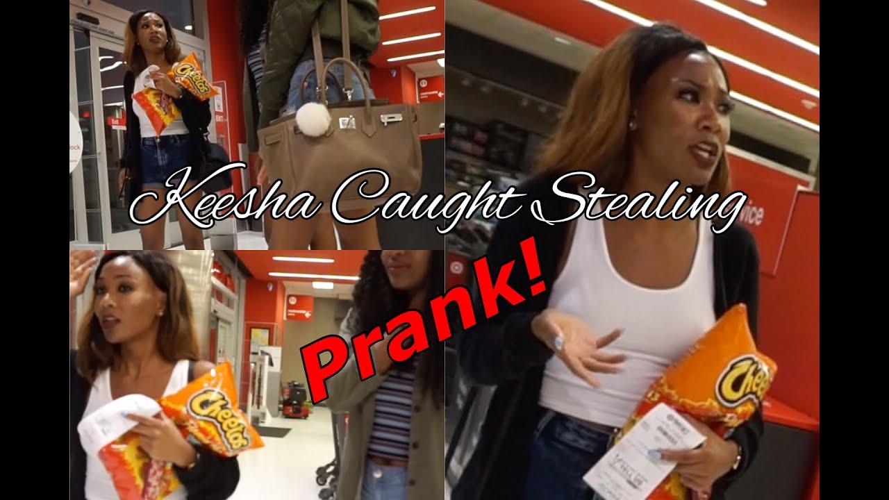 KEESHA CAUGHT STEALING in TARGET (prank)