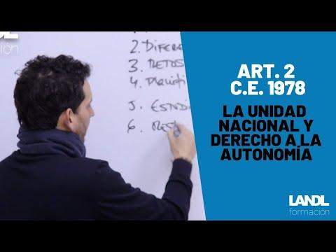 Constitución española 1978 para oposiciones y esquema artículo 2 título preliminar
