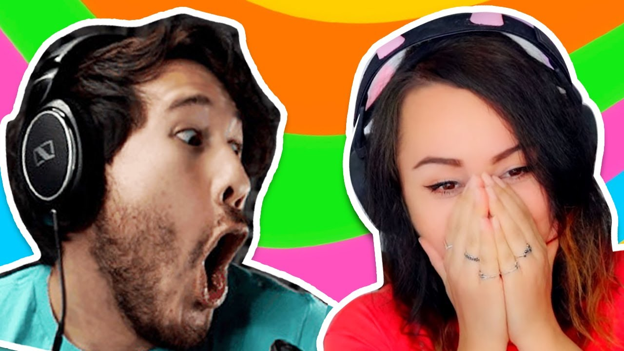 Bunny REACTS to Markiplier's Try Not To Laugh Challenge #23