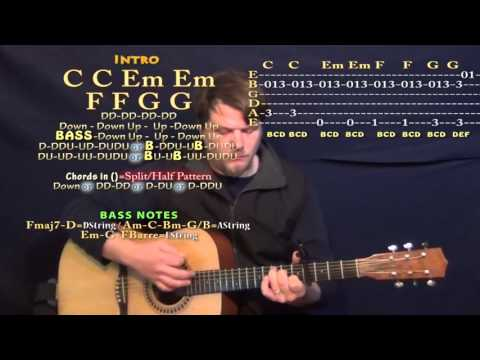 All I Ask (Adele) Guitar Lesson Chord Chart - Capo 4th and 5th
