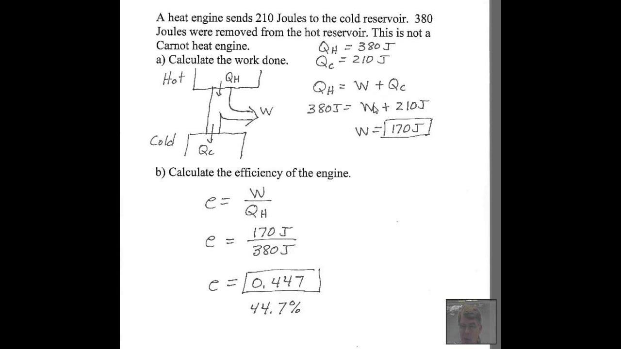 simple heat engine work  efficiency youtube
