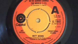 matt monro - we`re gonna change the world