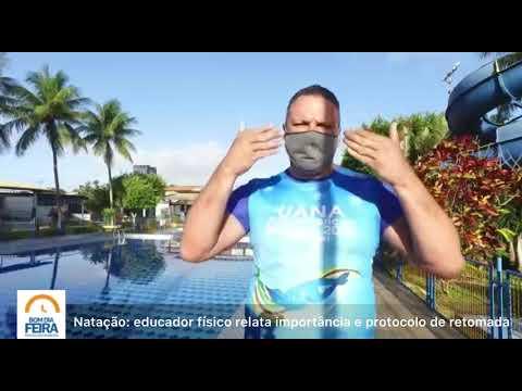 Educador físico fala sobre retomada das aulas de natação