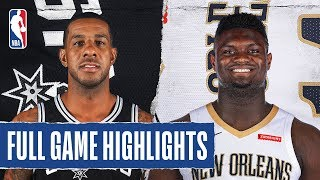 SPURS at PELICANS   FULL GAME HIGHLIGHTS   January 22, 2020