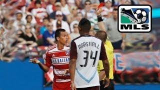 Red Cards doom FC Dallas - Blas Perez & Daniel Hernandez are sent off against the Colorado Rapids