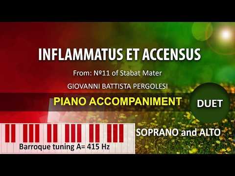 Stabat Mater Pergolesi Nº 11  Inflammatus Et Accensus / Karaoke Piano: Duet For Soprano And Alto