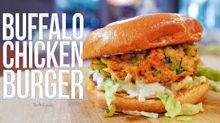 Buffalo Chicken Burger | SAM THE COOKING GUY