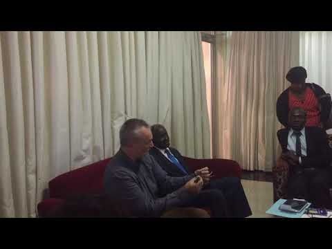 Press conference at Lusaka airport