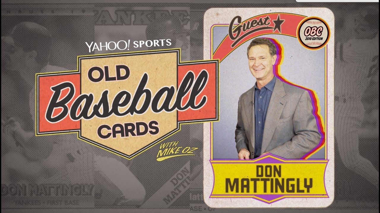Don Mattingly Opens Baseball Cards From 1982 Old Baseball Cards