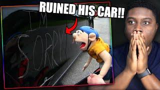 JEFFY KEYS GOODMAN'S CAR! | SML Movie: Jeffy's Car Accident Reaction!