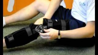 donjoy trom universal locking knee brace fastfit and rehab firstaid4sport
