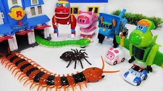 출동 고고다이노 로봇공룡구조대 변신로봇 로보카폴리 와 타요를 구해줘 장난감 놀이 Robot Dinosaur Rescue Go Go Dino transforming car toys