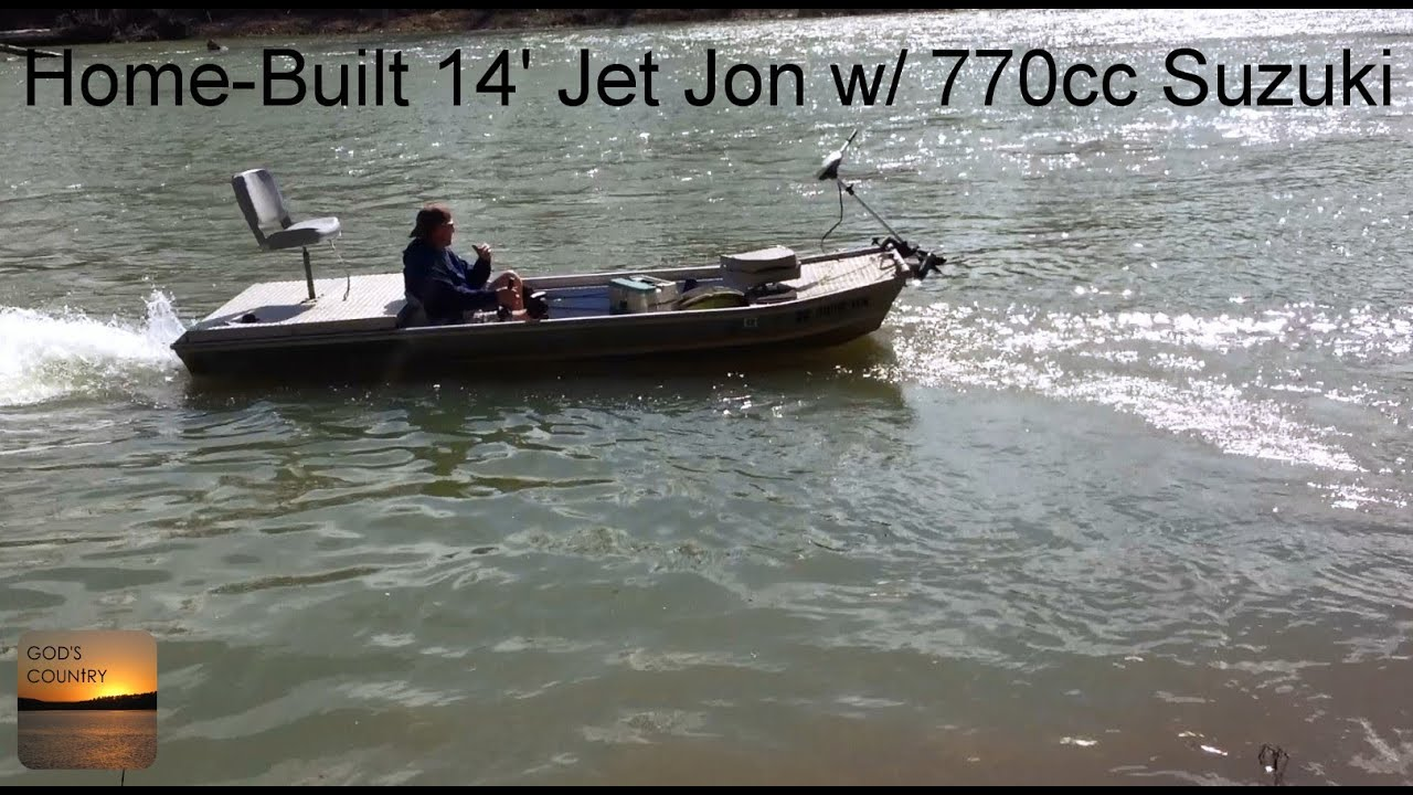 A Home Built 14 39 Jet Jon With A Suzuki 770cc On The White River Beaver Lake Headwaters Youtube