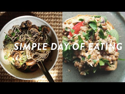 QUICK AND EASY DAY OF EATING | HEALTHY & PLANT BASED