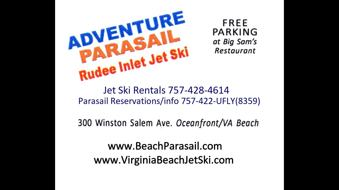 Rudee Inlet Jet Ski Als Adventure Parasail 757 428 4614 Virginia Beach Va