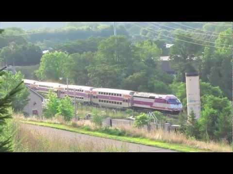 MBTA Train in West Roxbury MA MP36#011.