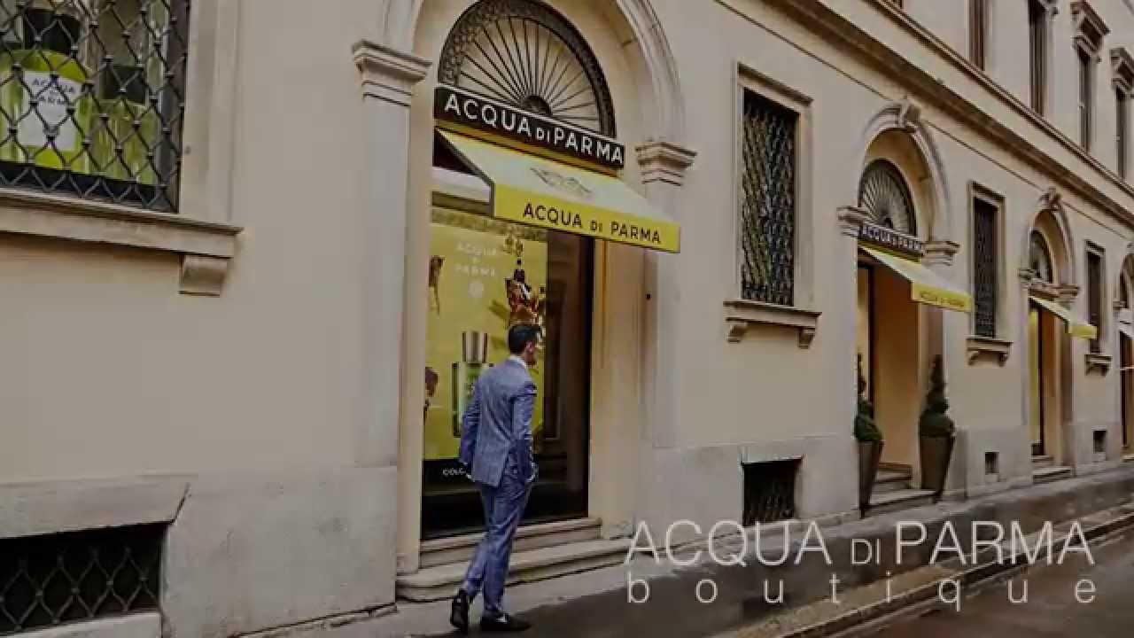 acqua di parma boutique barber shop in milan italy youtube. Black Bedroom Furniture Sets. Home Design Ideas