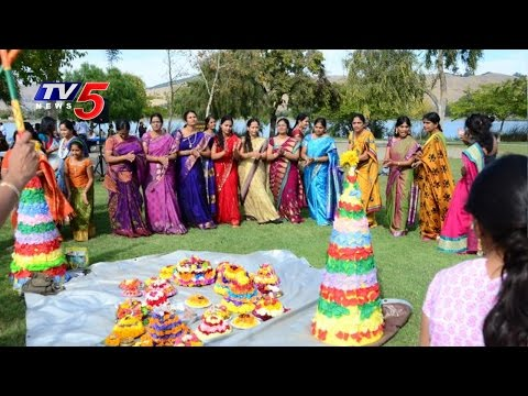 1000 Nri Women Participated in Bathukamma Celebrations in Singapore | TV5 News