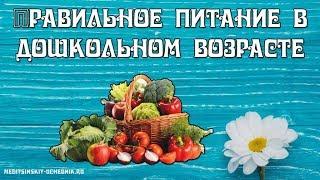 Правильное питание для детей. Правильное питание в дошкольном возрасте