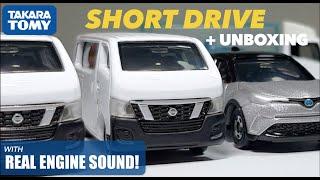 Tomica Unboxing + Short Drive: 2012 Nissan Nv350 Caravan
