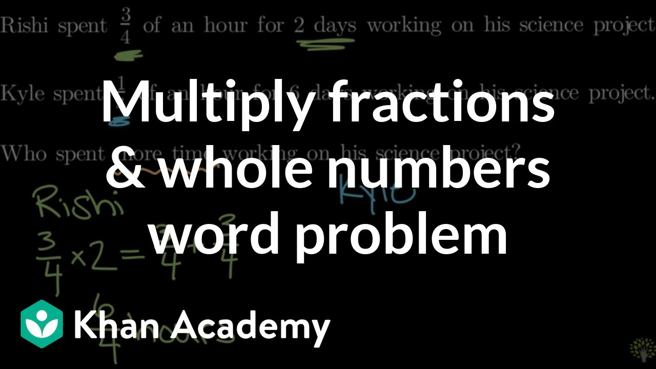 Multiplying fractions by whole numbers word problem (video