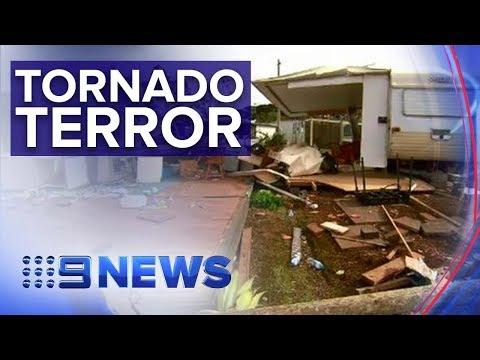 Tornado Tears Through Victorian Caravan Park | Nine News Australia