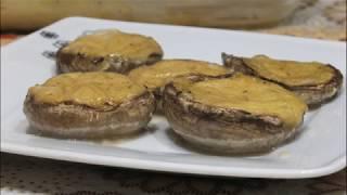 Фаршированные шампиньоны в духовке с сыром рецепт/шляпки шампиньонов фаршированные