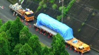 新型ロケット「イプシロン」、国道で立ち往生 鹿児島、運搬車両が故障・鹿児島県内之浦 thumbnail