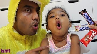 Funny Kid Ishfi Learn Colors with Candy & Johnny Johnny Yes Papa Nursery Rhymes with Daddy