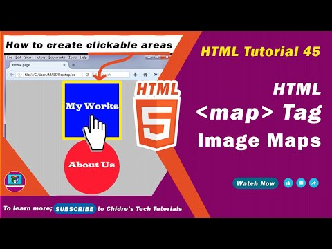 HTML Tutorial 45 - HTML Image Map Tutorial