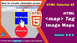 HTML video tutorial - 45 - html image map