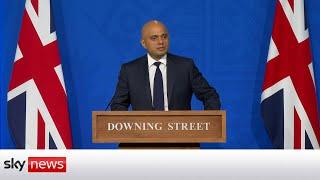 Watch live: Sajid Javid holds a news conference