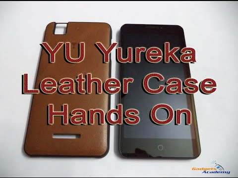 new style 619ad a2a73 Micromax YU Yureka Leather Case Hands On and Overview [HD]