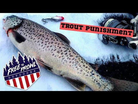 Trout Punishment- Ice Fishing Devils Lake, WI