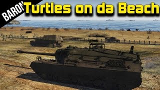 War Thunder Tanks - T-95 Doom Turtle, D-Day Map Gameplay