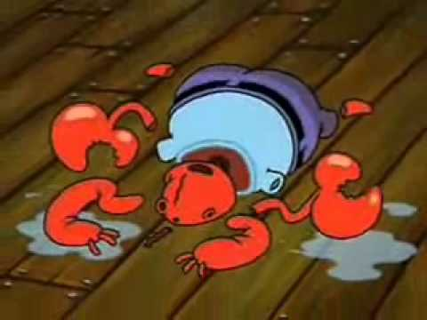 Mr Krabs Crying