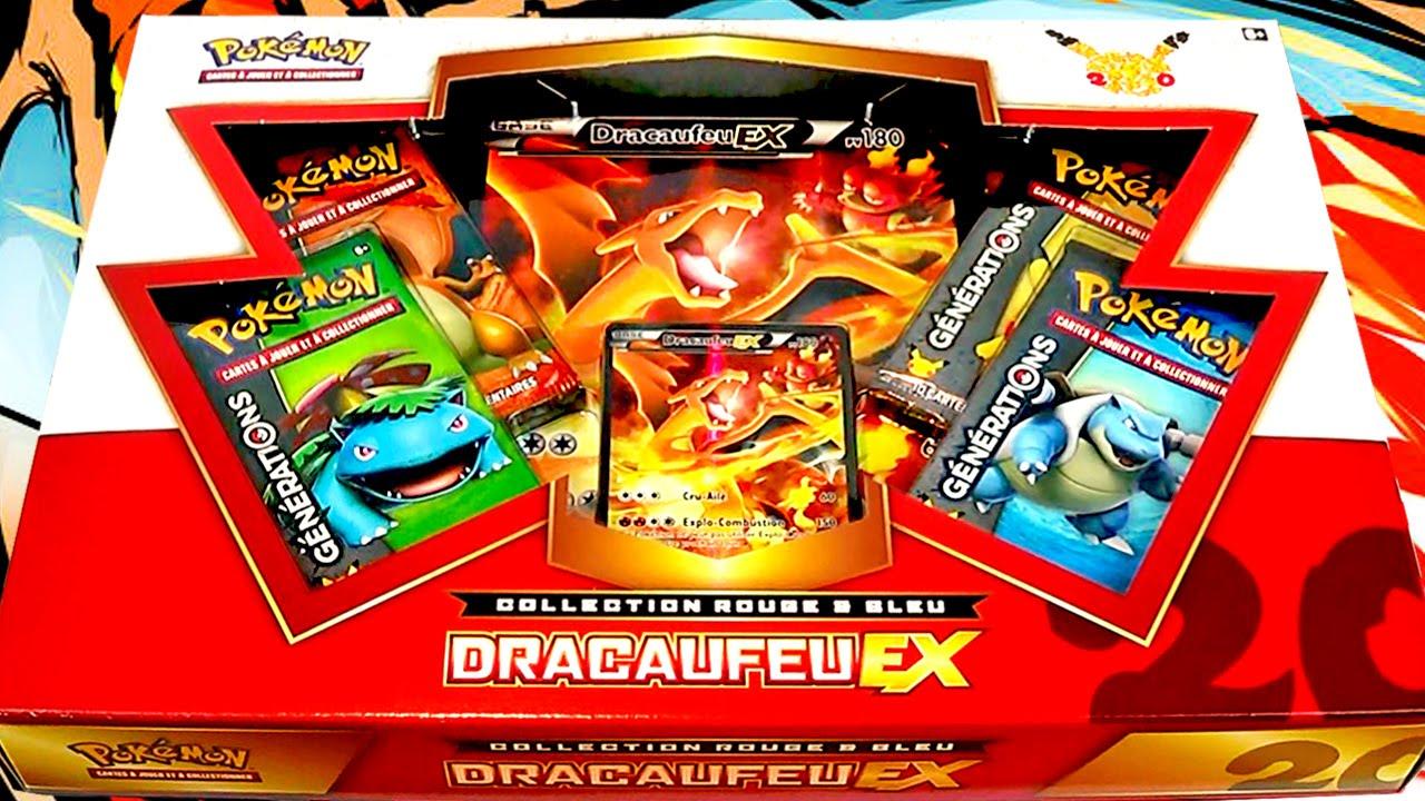 Ouverture du coffret pok mon dracaufeu ex fran ais des - Pokemon dracaufeu ex ...