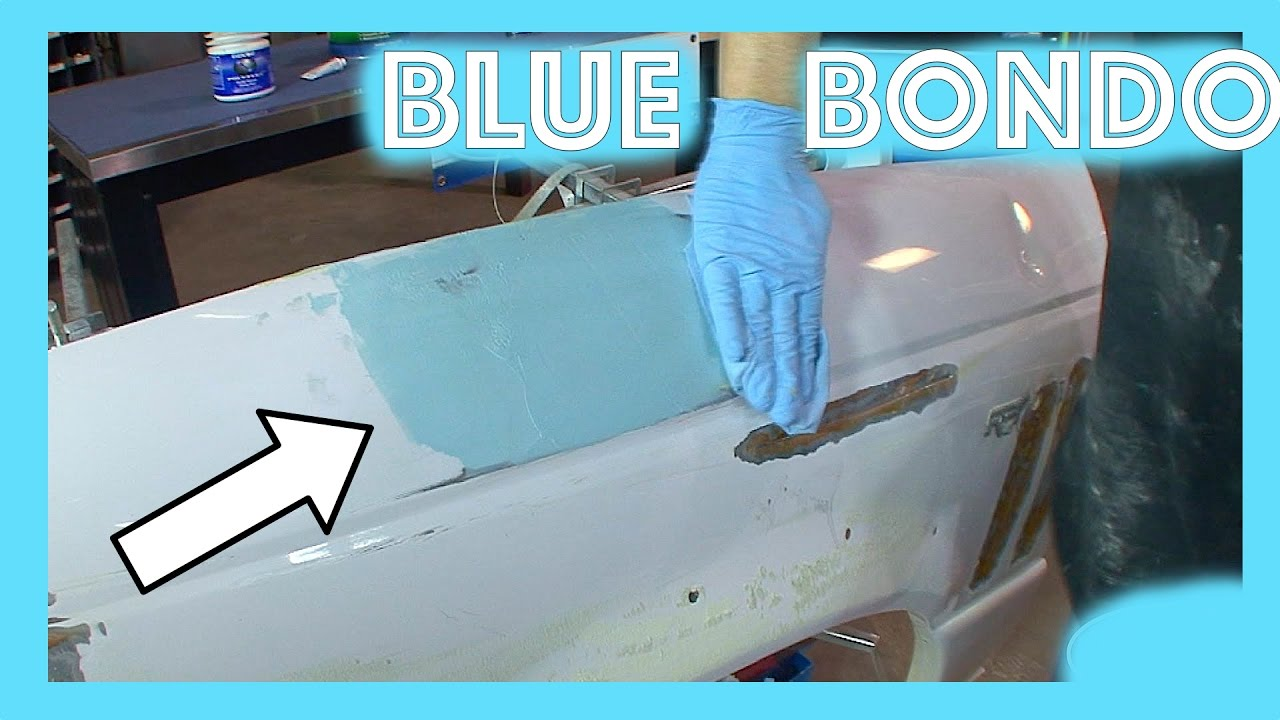 1965 Mustang Fender Restoration Part 2 Bondo Primer Paint At Home With Blue