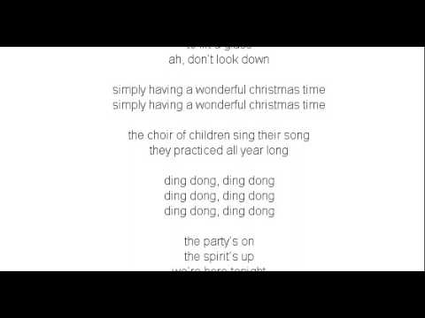 The Shins Wonderful Christmastime Lyrics - YouTube