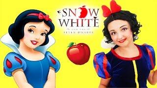 Kids Makeup Snow White Super Elsa Became a Princess- Disney Real Princess Dresses & Magic Transform