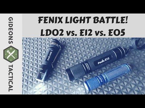 Fenix EDC Flashlight Battle! LD02 vs. E12 vs. E05