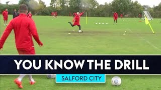 60 Second Finishing Challenge | You Know The Drill | Salford City ⚽