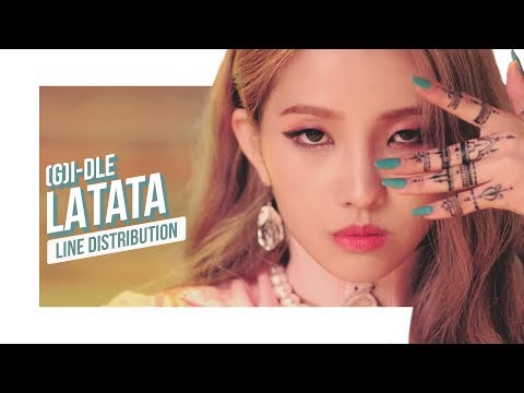 (G)I-DLE - LATATA Line Distribution (Color Coded) | (여자)