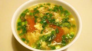 Cách làm món Canh trứng đậu phụ